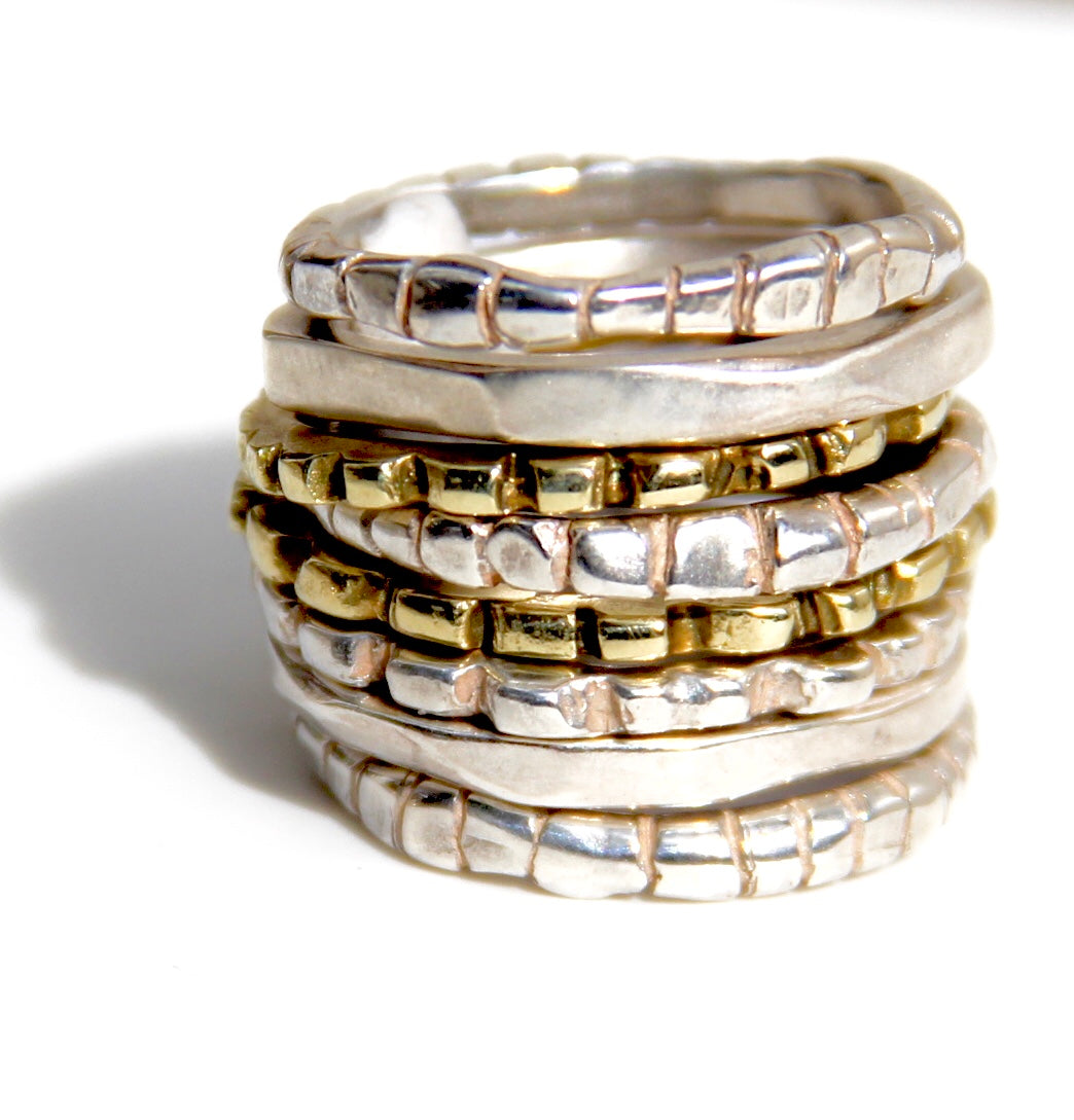 Second-Skin Stacking Rings