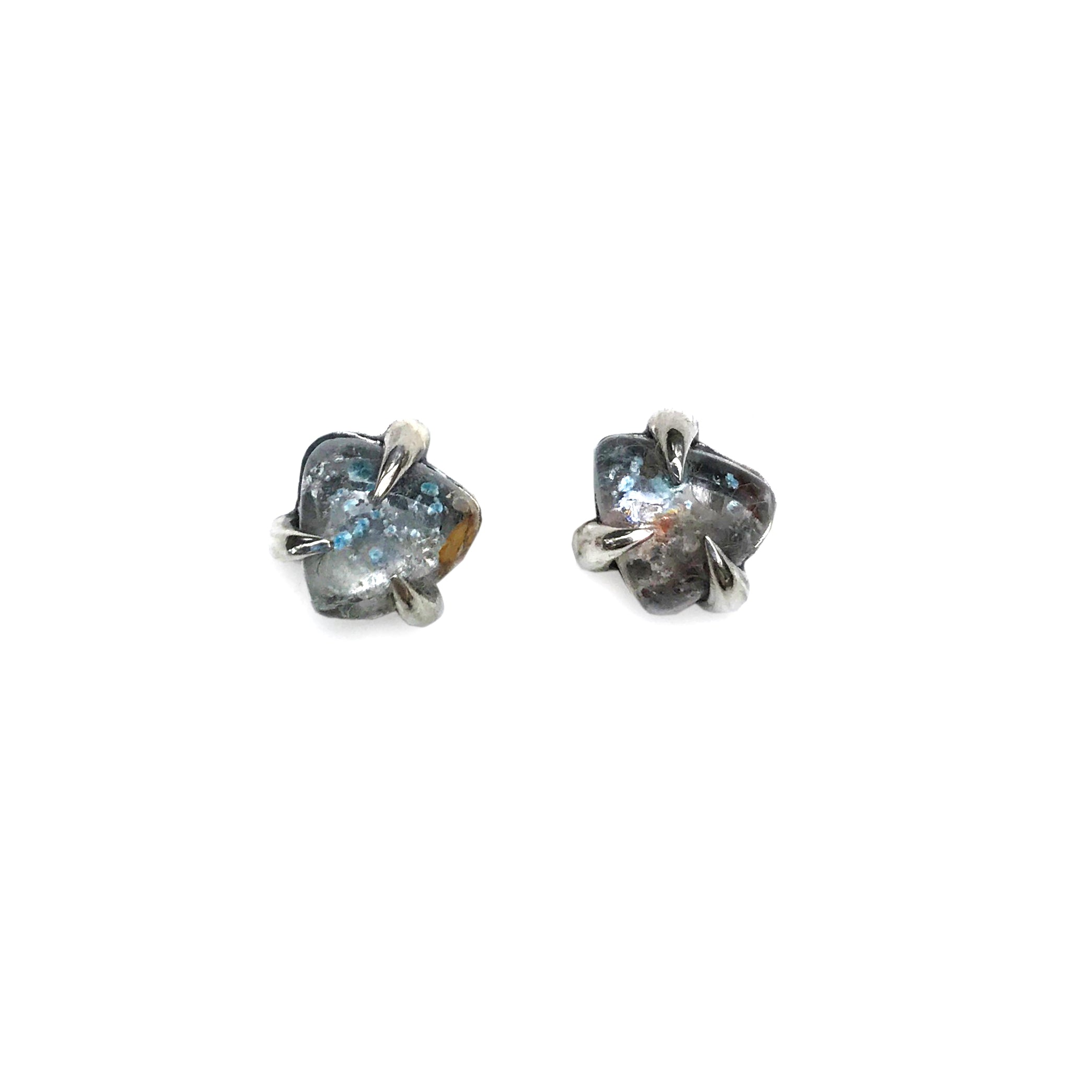 Paraiba Quartz Stud Earrings