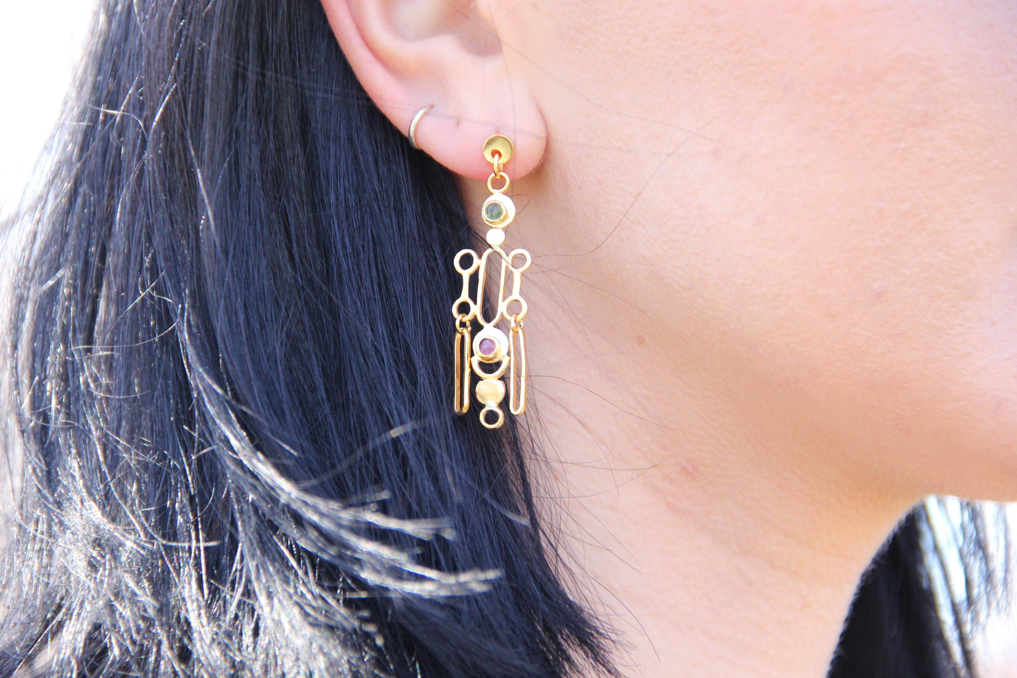 Through the Caledula Earrings