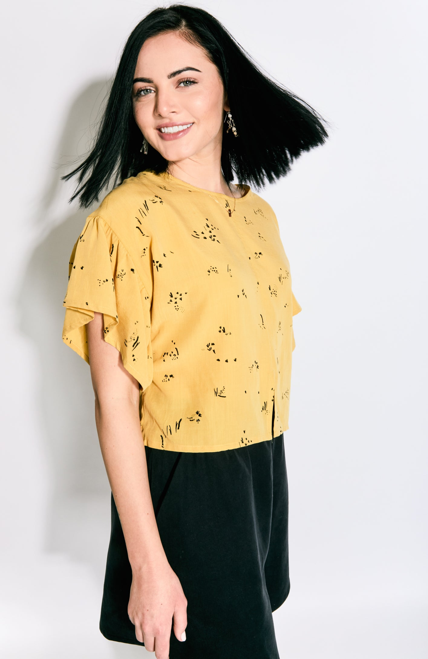Eve Gravel Mimosa Top