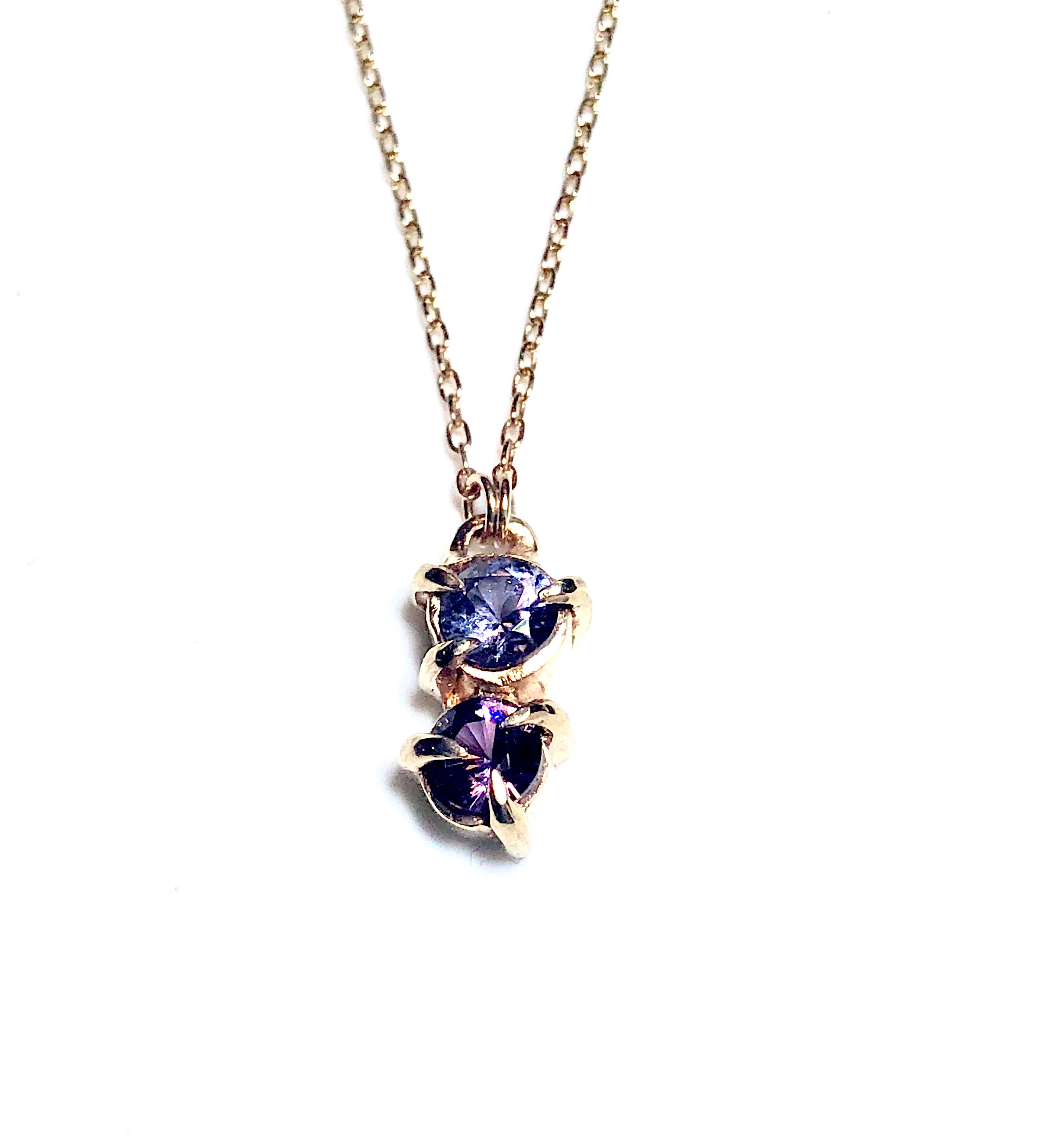 yg amethyst druzy chain cable spinel and a necklace accent gemstone inch on zoe piper products