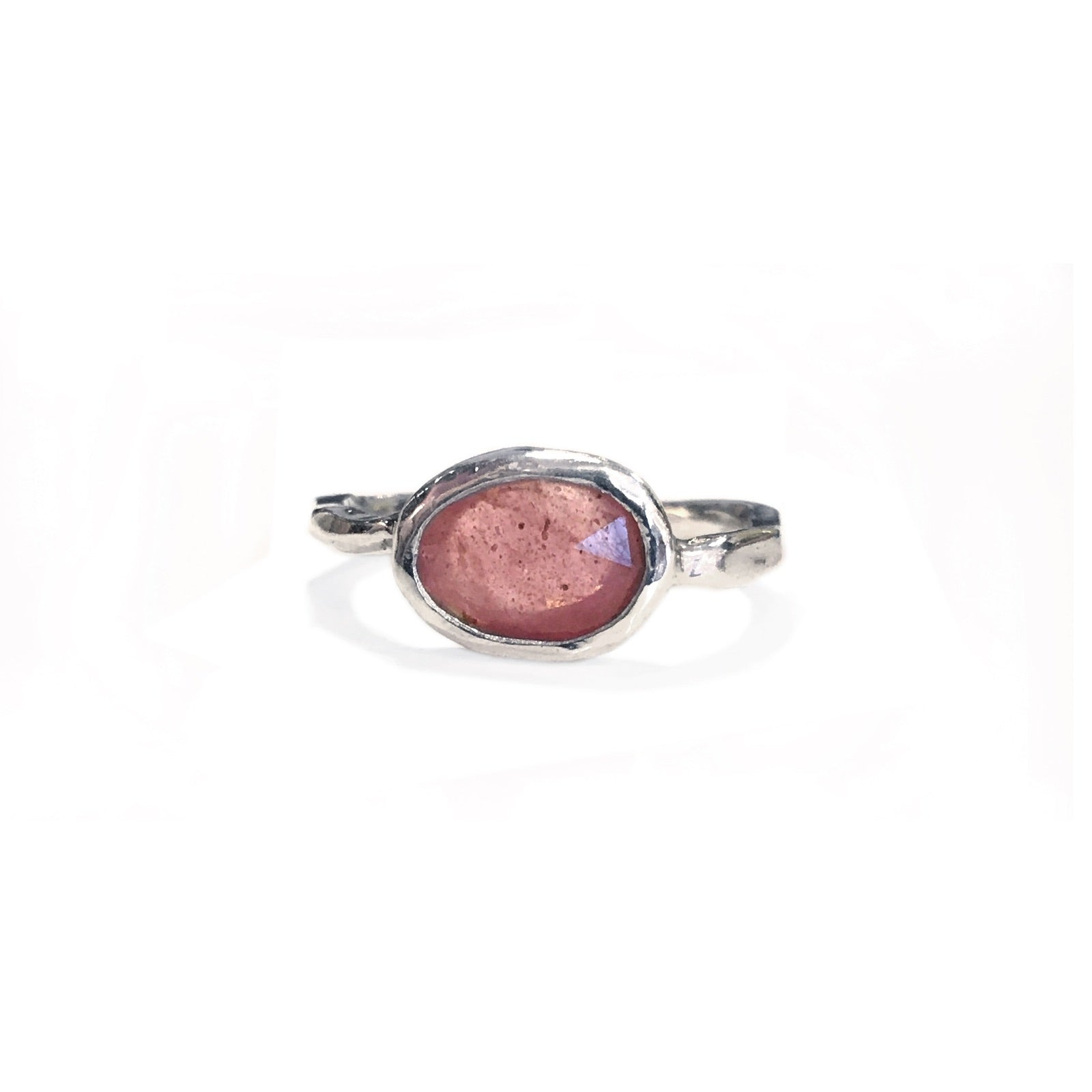 Pink Sapphire Ring in Silver