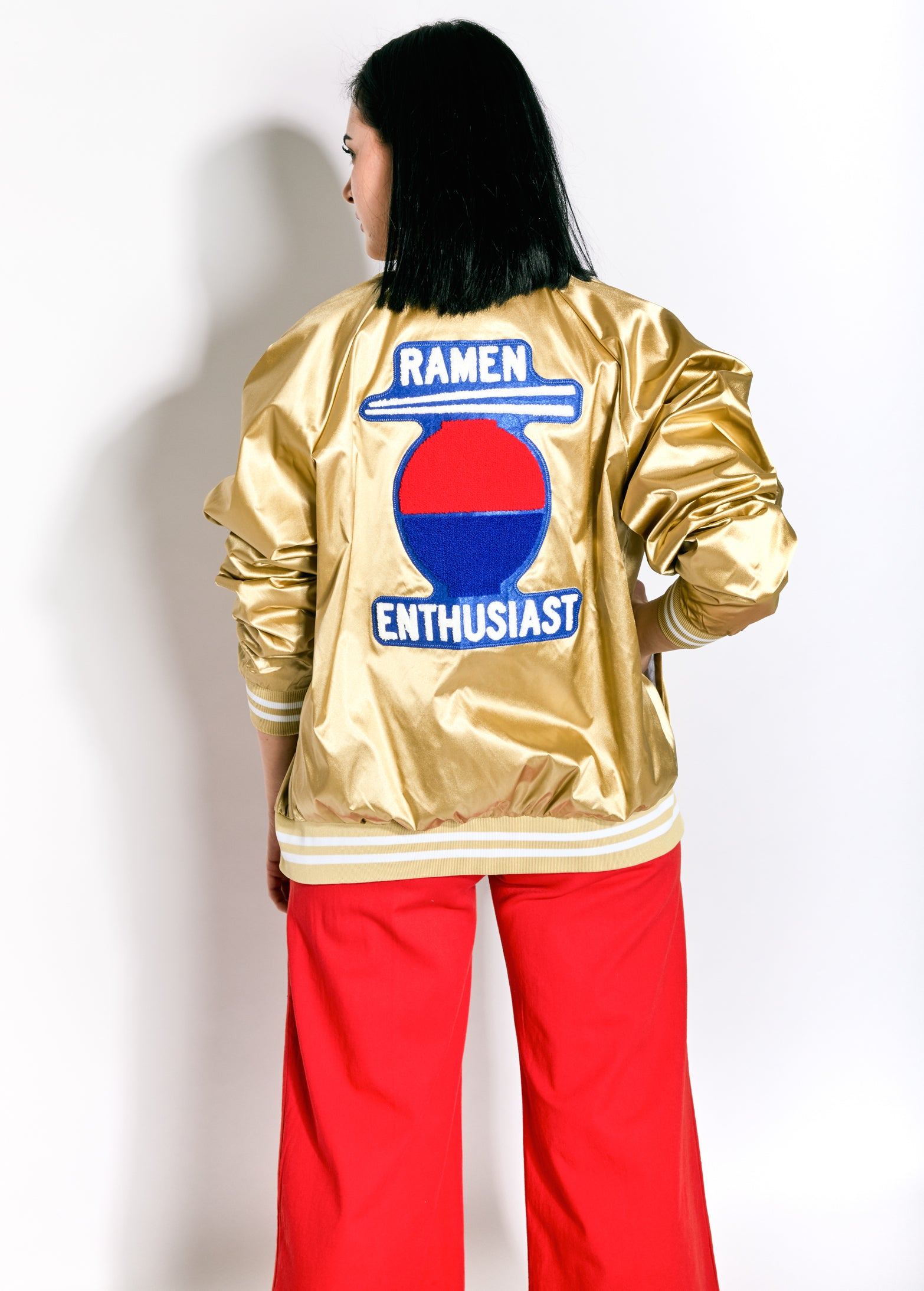 Sugar High Love Stoned Ramen Baseball Jacket
