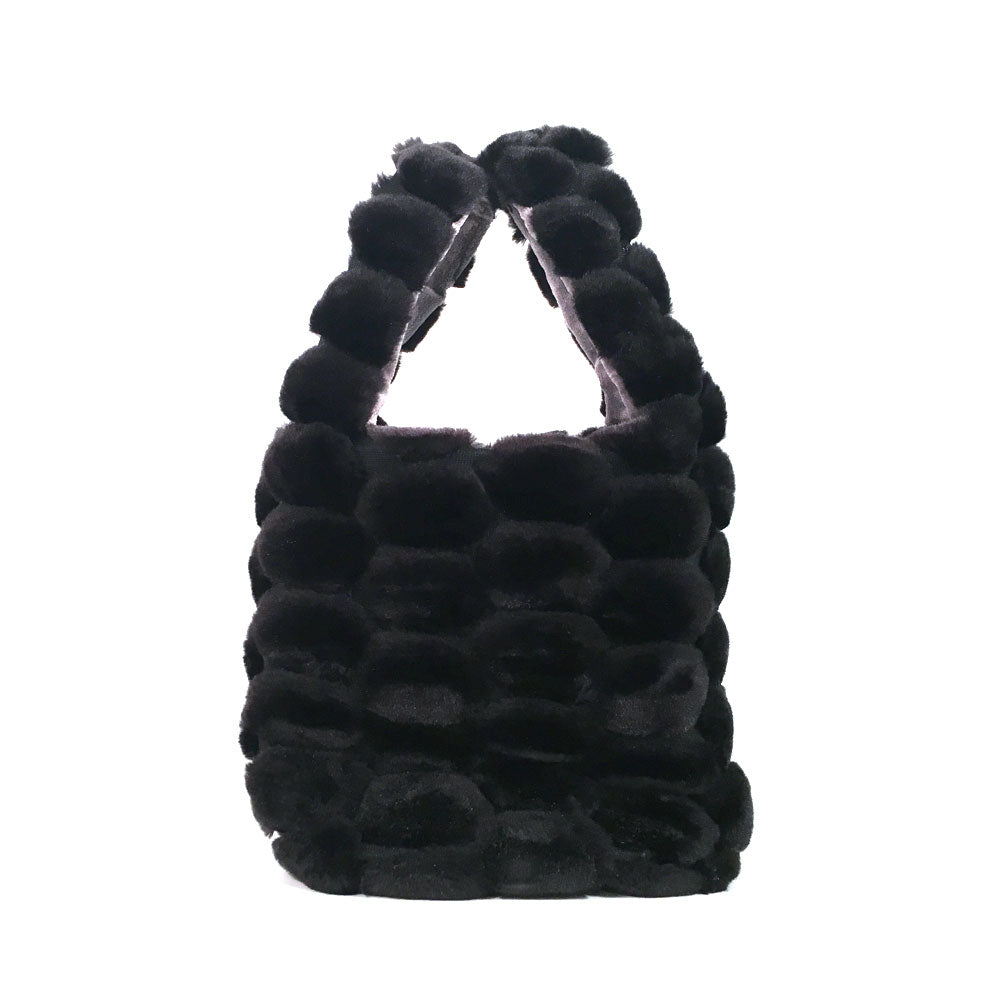 Saint Catello Faux Fur Bodega Bag