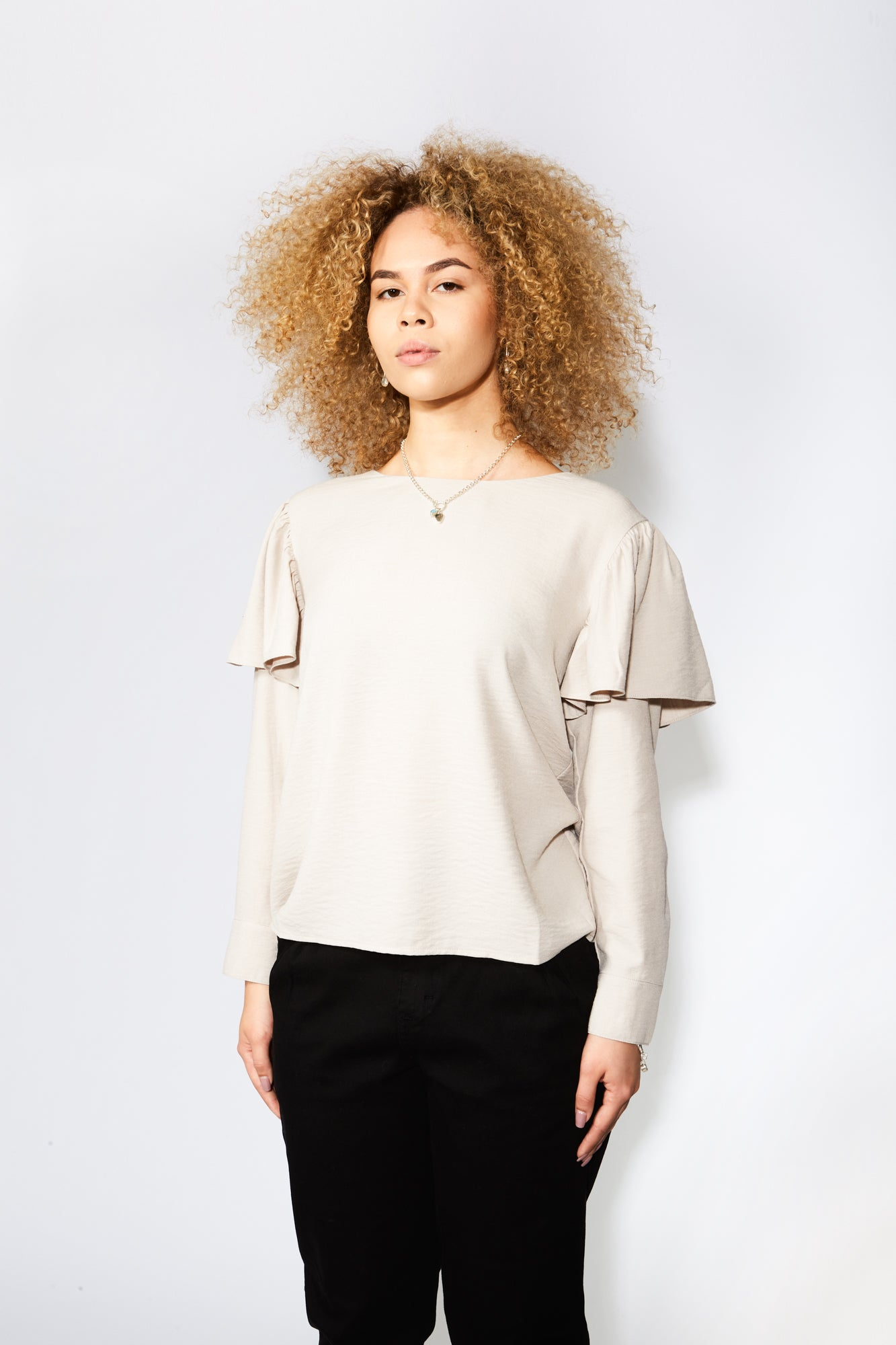 The Odells Ruffle Sleeve Top