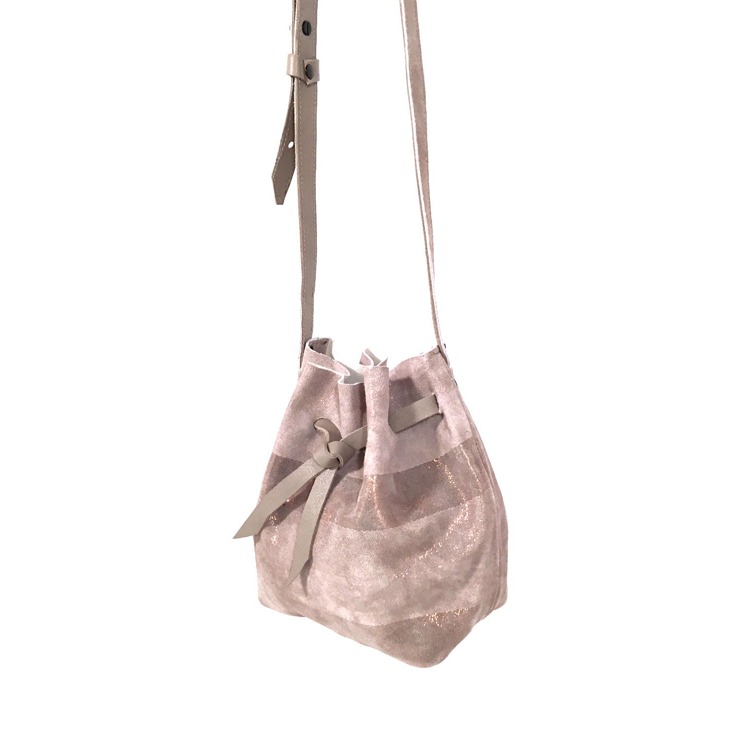 Saint Catello Trap Bucket Bag in Rose Quartz