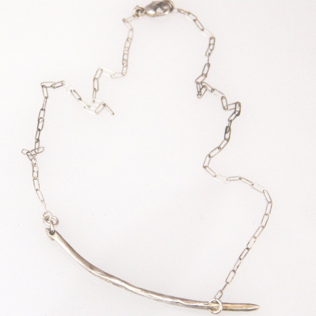 Curved Icicle Necklace