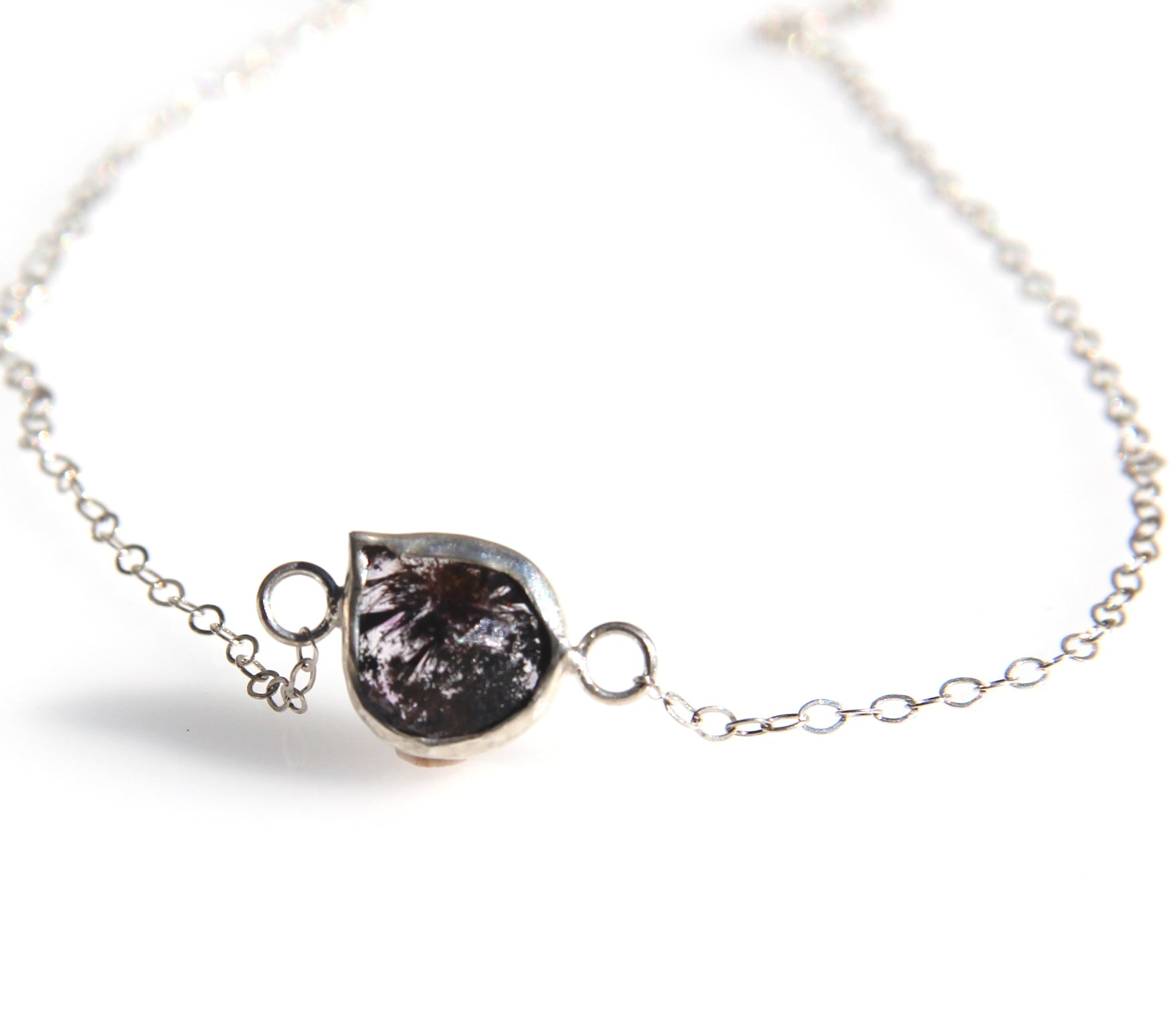 Faceted Super Seven Silver Necklace