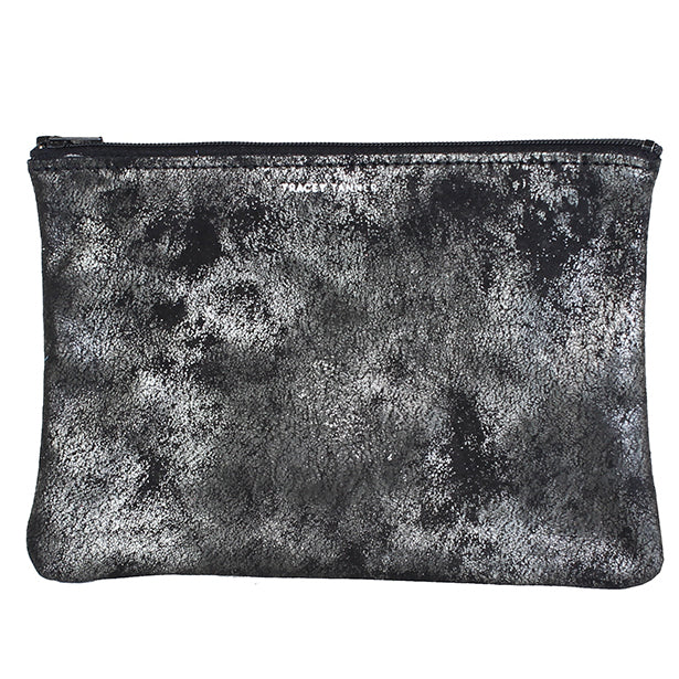 Tracey Tanner Distressed Pouch (silver)