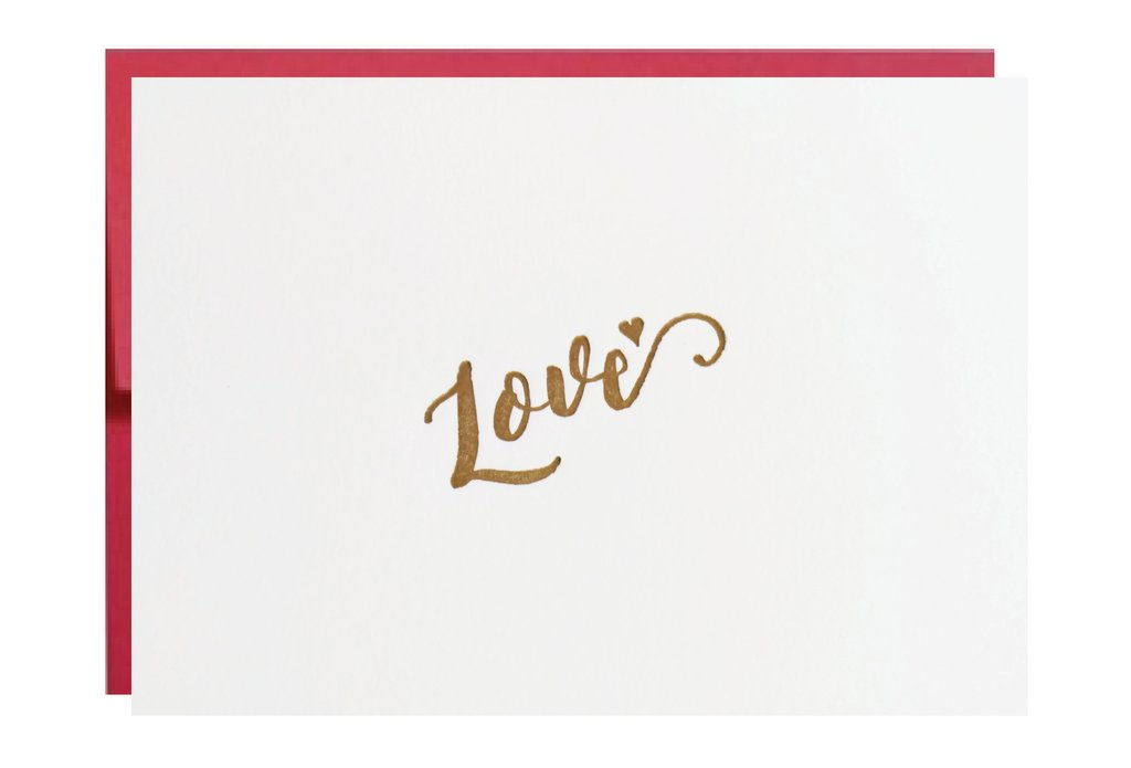 Idea Chic - Greeting Card Love - Love Letterpress