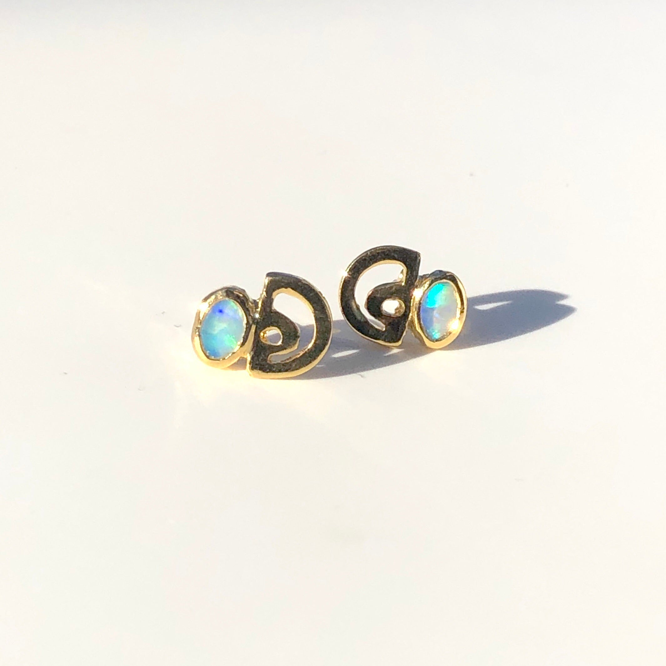 Horizon Opal Stud Earrings