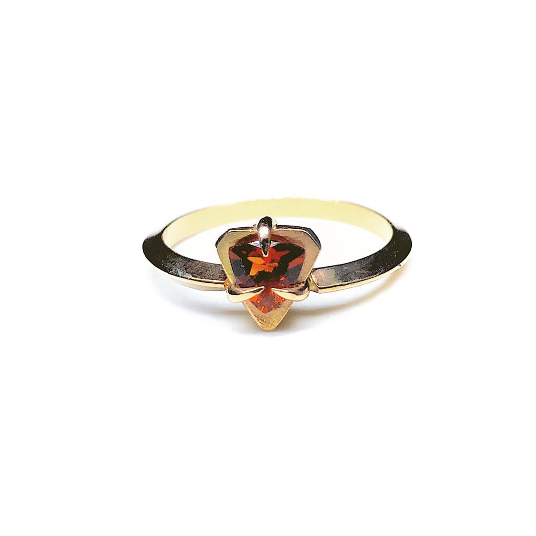Citrine Trillion Ring