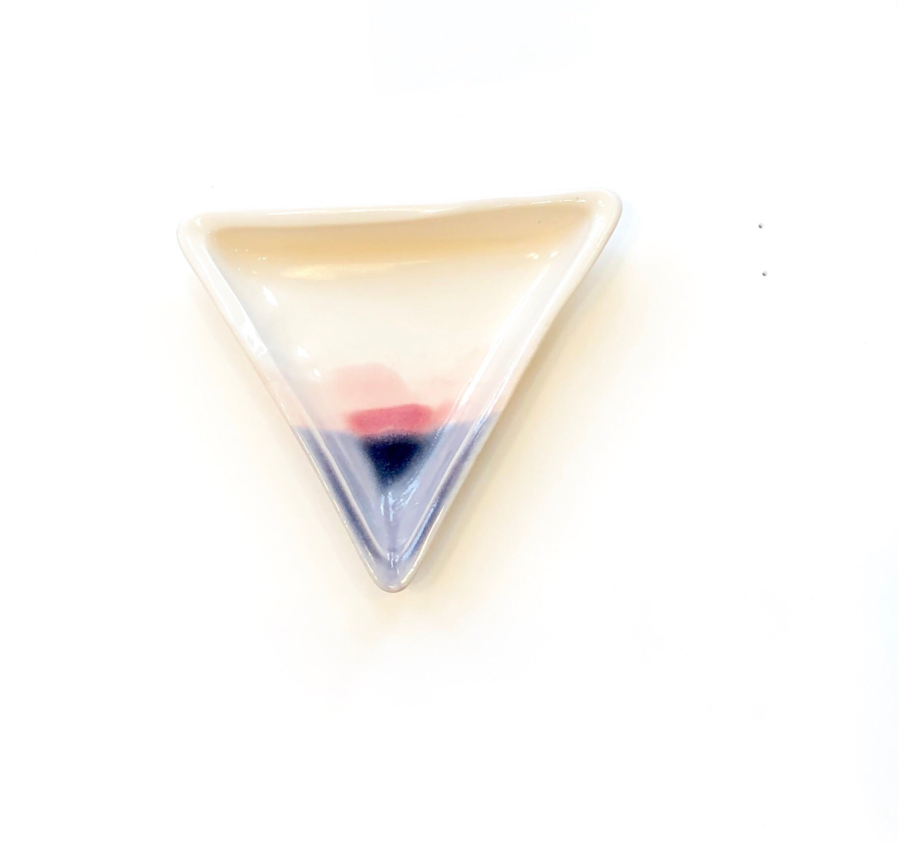 Ceramic Triangle Dish in Sunset