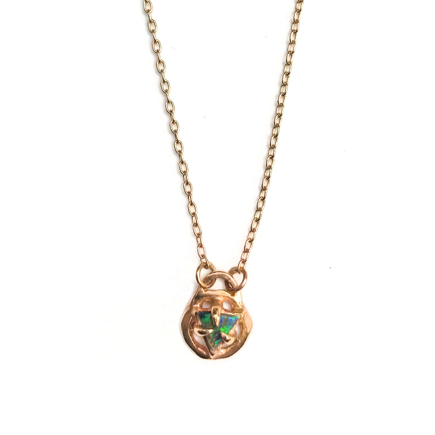 The Three Primes Gold Opal Necklace