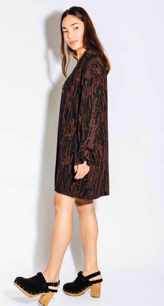Eve Gravel Vetiver Dress