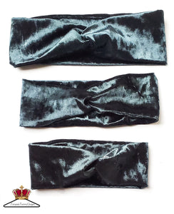 Velvet faux headbands