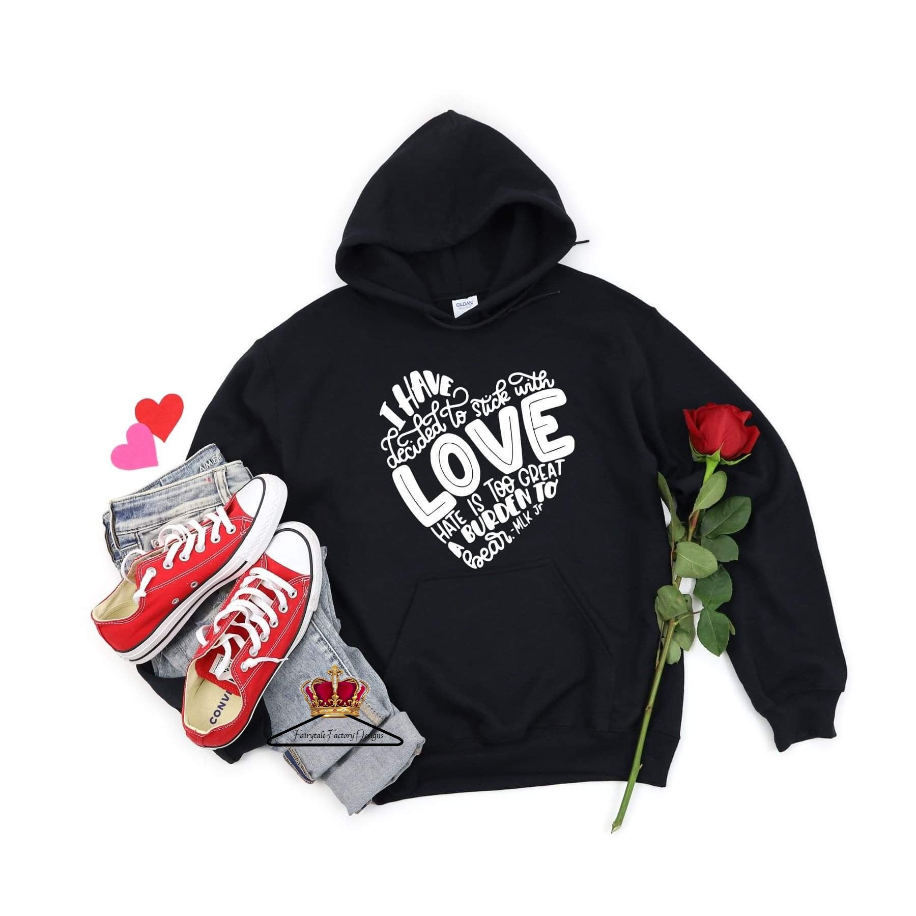 Mlk love children's tee  (hoodies temporarily unavailable in childrens sizes)