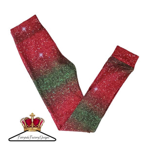 Red & Green Holiday Leggings