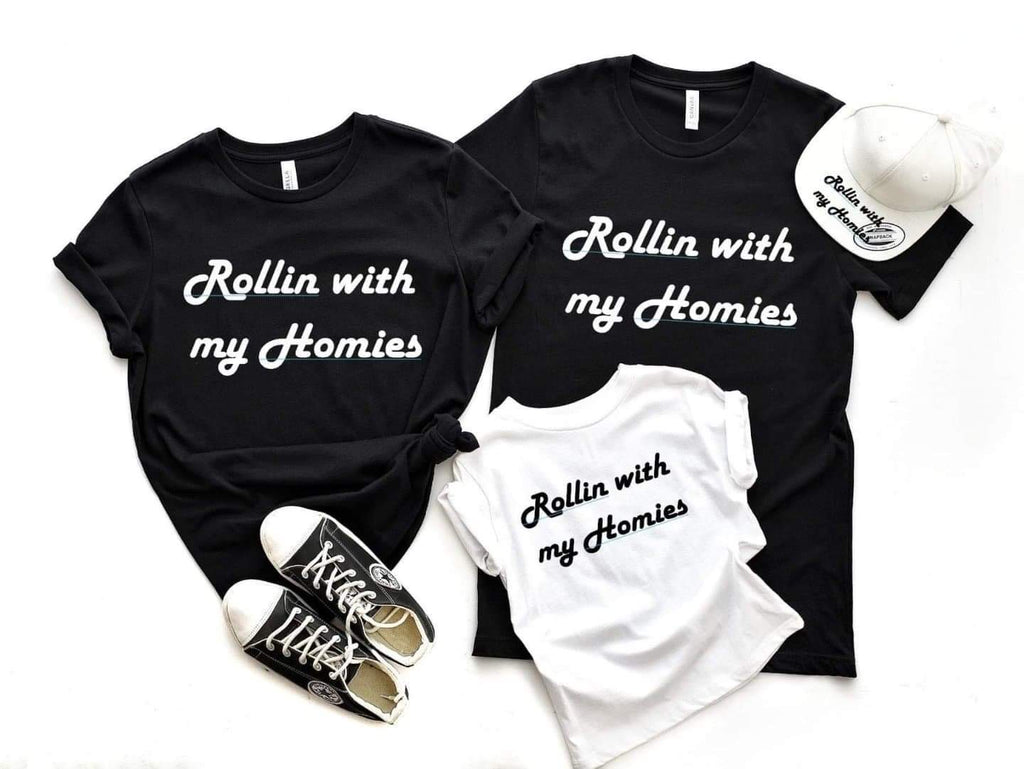 Rollin With The Homies - Adult Tee