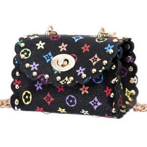 FLOWER PRINT MINI BAG - BLACK