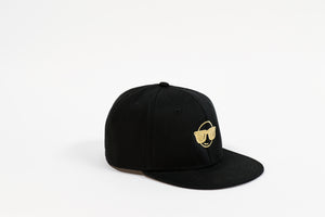 GOLD EMOJI FLAT BILL HAT