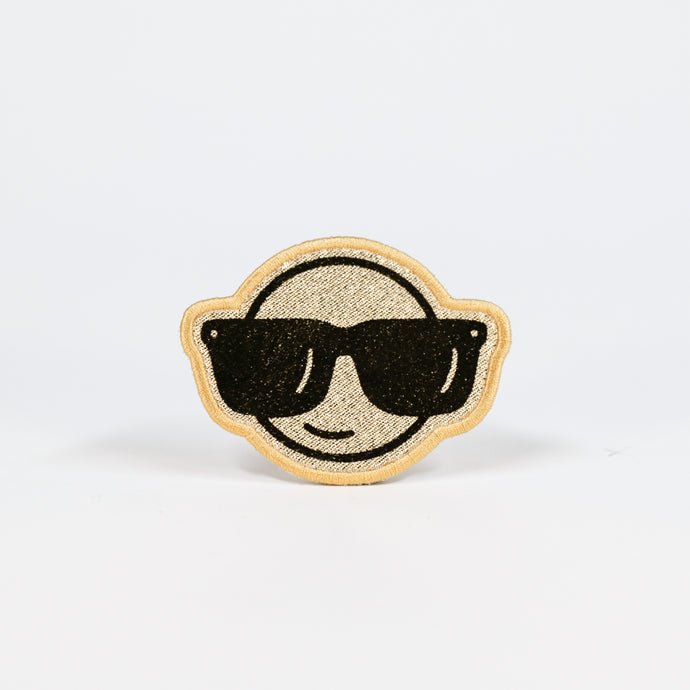 GOLD GLITTER EMOJI PATCH