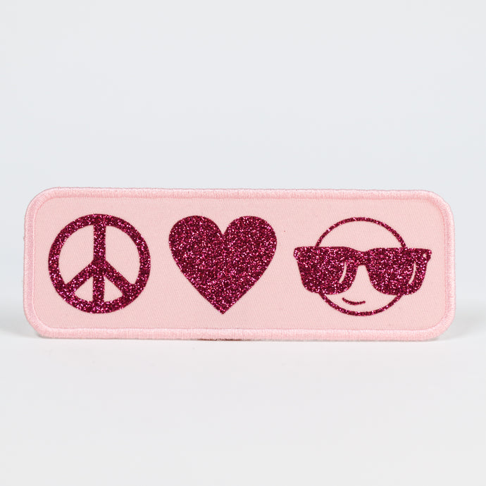 PEACE LOVE EMOJI PATCH