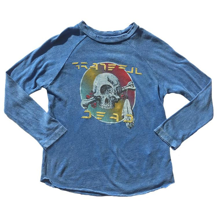 GRATEFUL DEAD DISTRESSED RAGLAN TEE