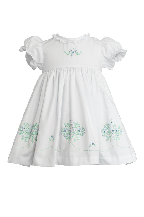 SUSSEX DRESS W/EMBROIDERY
