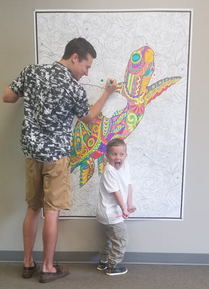 "SUPER HUGE 48"" x 63"" COLORING POSTER Upsell"