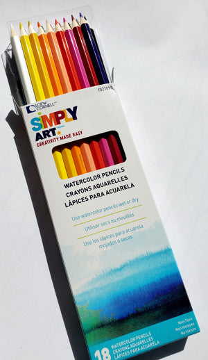 18 WATERCOLOR PENCILS