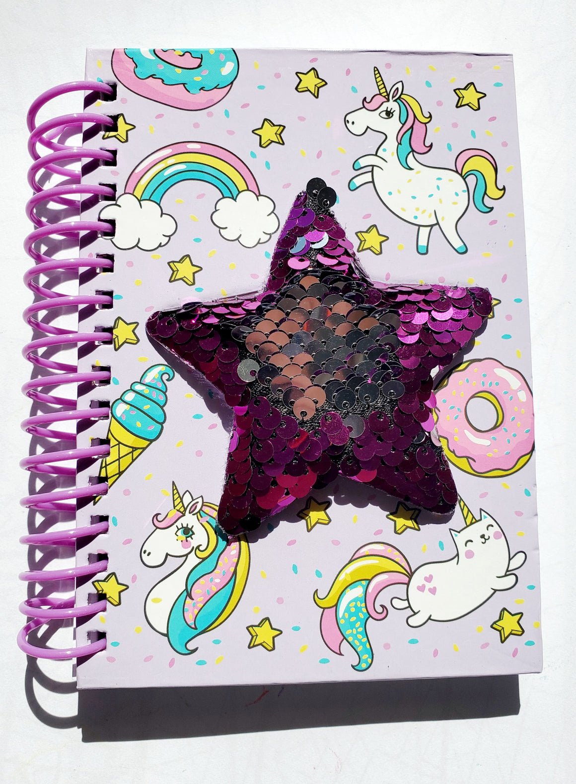 SEQUIN STAR NOTEBOOK