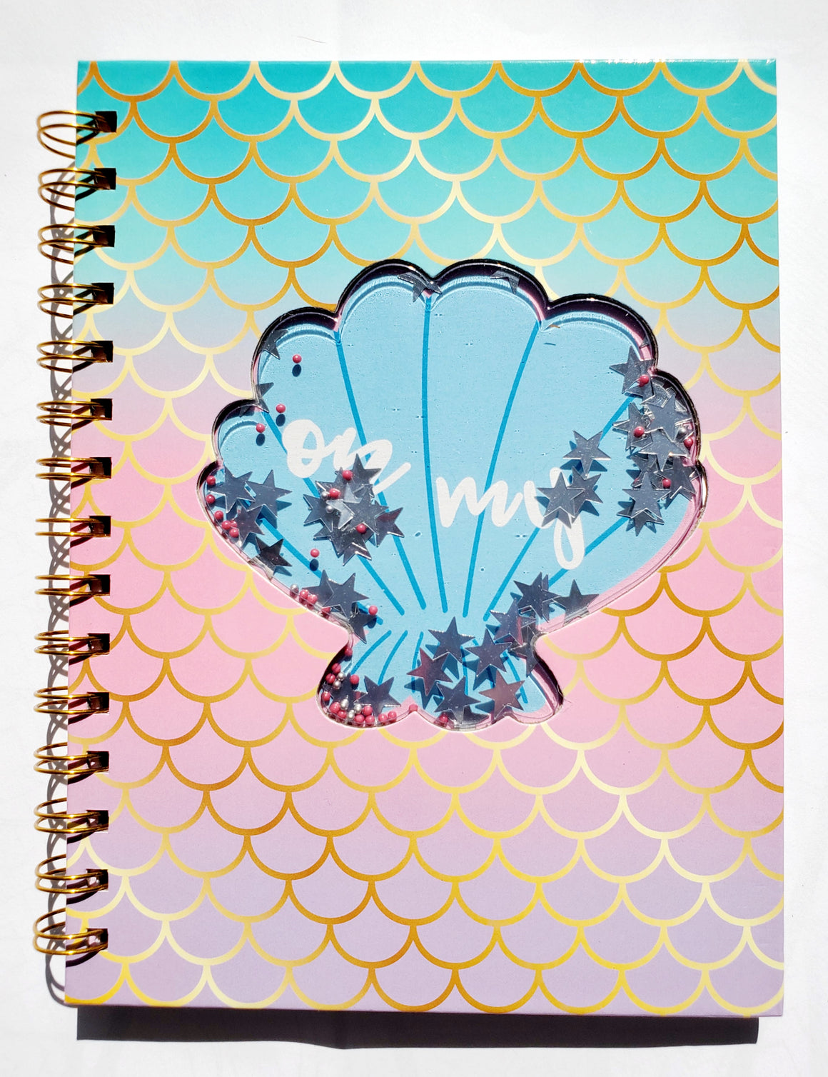 GLITTER SHELL NOTEBOOK