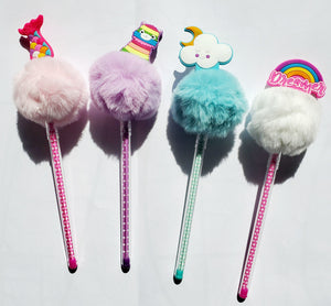 CUTE FUZZY BALL PENS