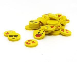 40ct Mini Smiley Erasers