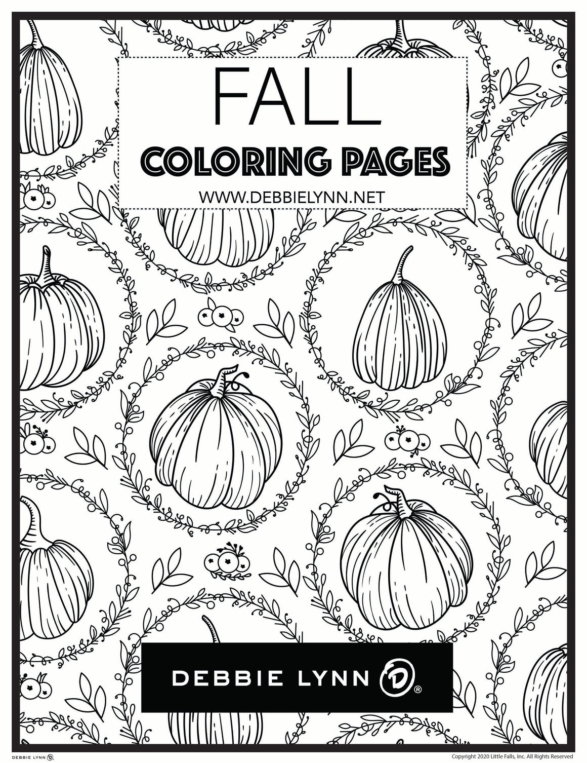 FALL COLORING BOOK 30 PAGES
