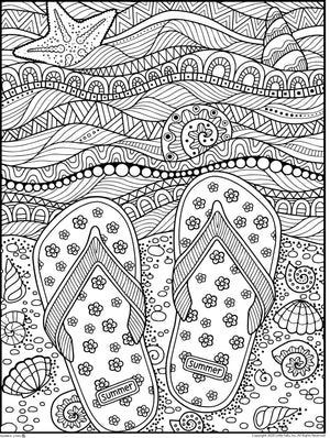 SUMMER COLORING EBOOK 30 PAGES