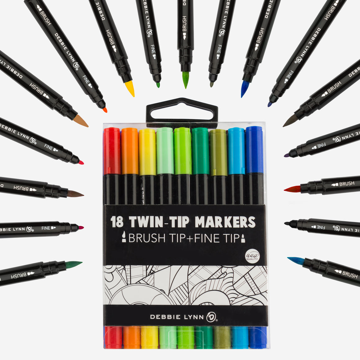 18CT DOUBLE-TIP MARKERS