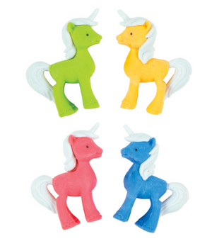 4 FUN 3D UNICORN ERASERS