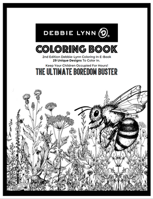 Debbie-Lynn 2nd Edition Coloring In E-Book - The Ultimate Boredom Buster