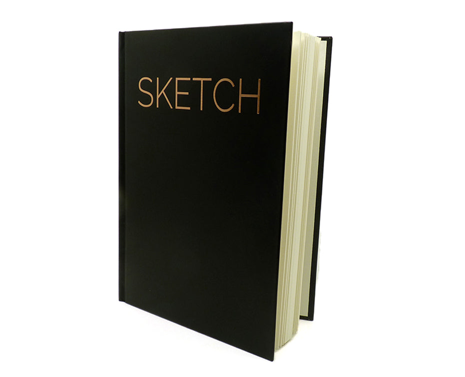 "Hardbound 8"" X 11"" Sketchbook. Sketchbook Great for Doodling and Sketching with Markers, Pencils, and Charcoal. Plus Pages Do Not Bleed Through!"