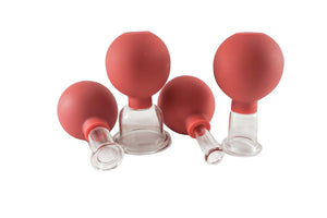 Glass Facial Cupping Set of 4