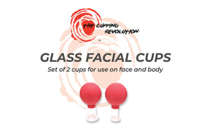Glass Facial Cupping Set of 2 - Small, Medium