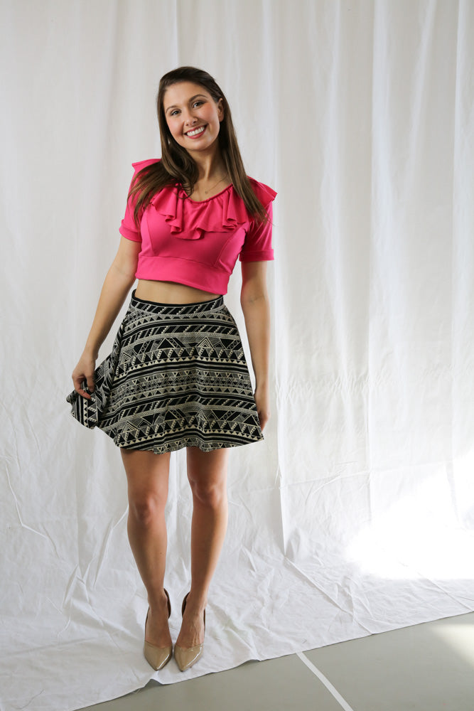 PINK Pattern Mini Skirt