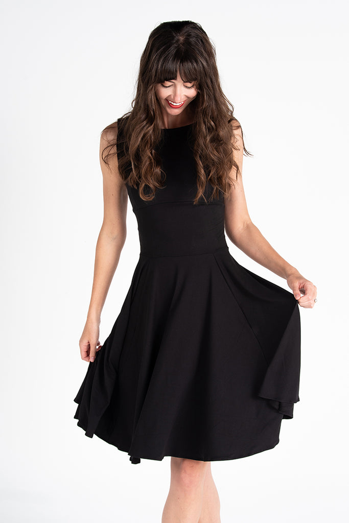 Classic Little Black Midi Dress