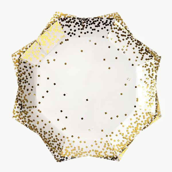 Gold sequin plates