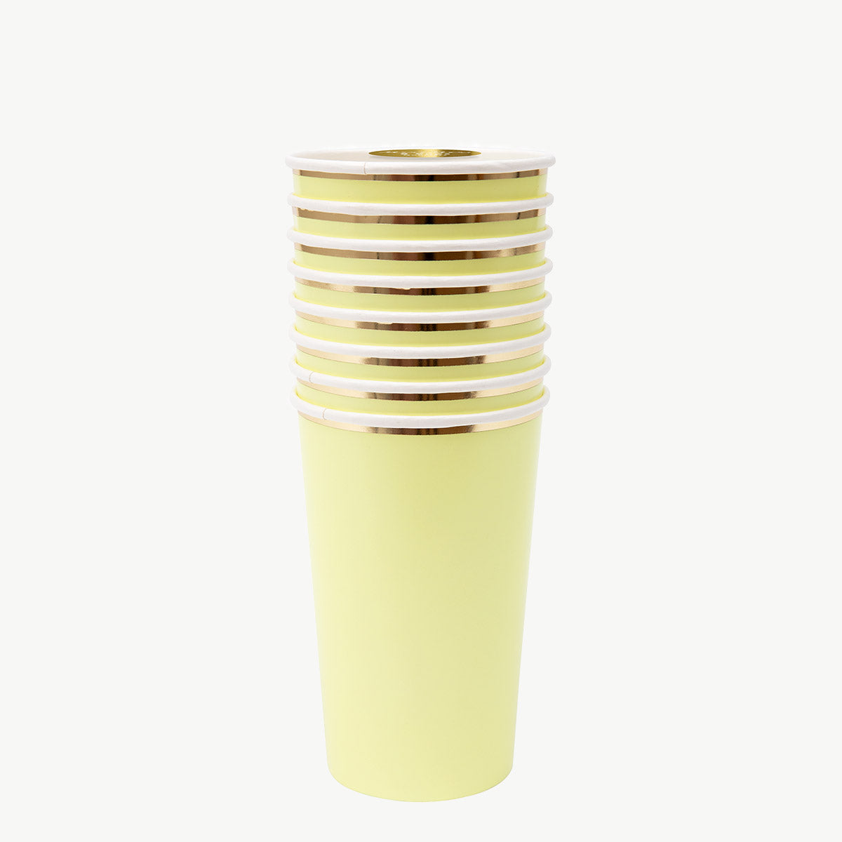 Large Pale Yellow cups x8