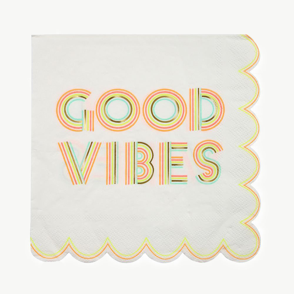 "Serviettes ""Good Vibes"" x16"