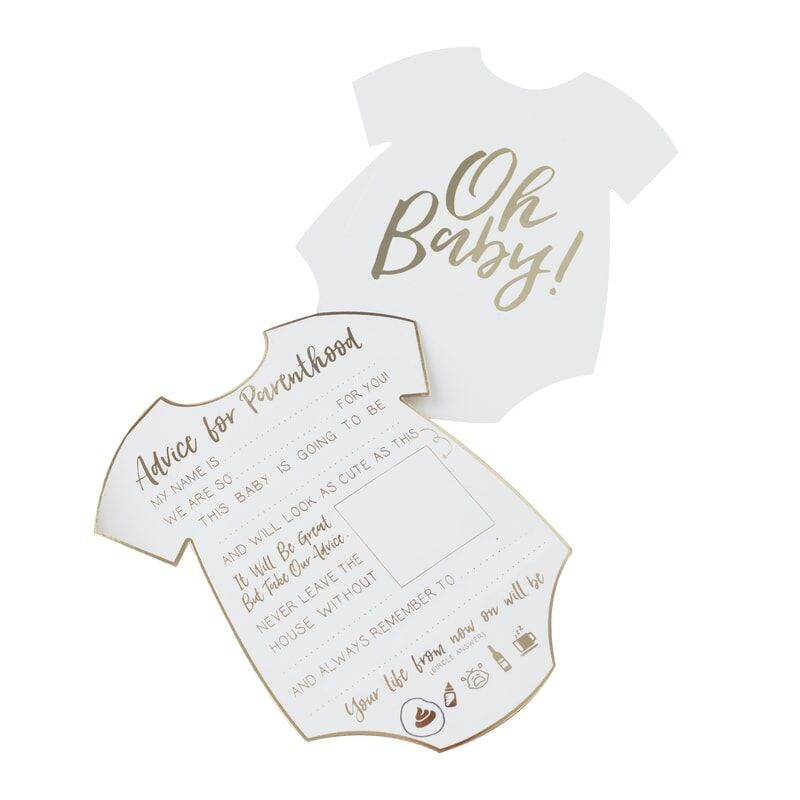 Cartes Baby Shower Conseils x10