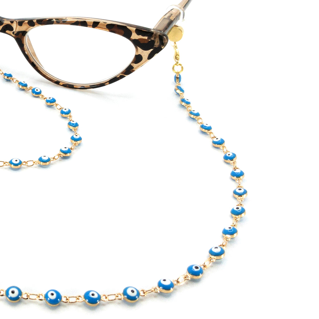 Blue Evil Eye Gold Plated Metallic Chain - Rainbow Notting Hill